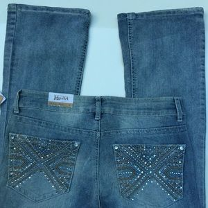 Mudd Bling Skinny Boot Bling Jeans Size 9 NEW